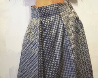 skirts made entirely by hand in my workshop where my creations with fabrics from Como,