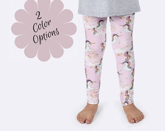 Unicorn Leggings, Fantasy Leggings, Girls Leggings, Unique Leggings, Print Leggings, Yoga Pants, Kids Leggings, Funny Leggings