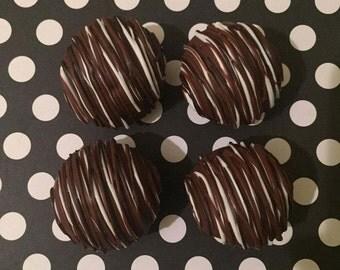 triple chocolate drizzle chocolate cake ball •one dozen
