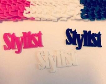 """laser cut acrylic """"Stylist"""""""
