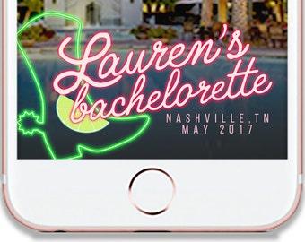 NEON COWBOY BACHELORETTE Party Snapchat Geofilter Wedding Filter - Customizable