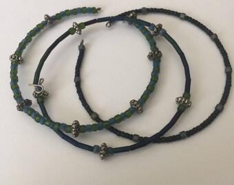 Green/Blue Beaded Bangles