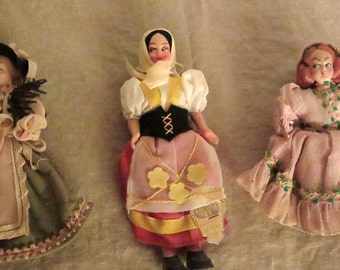 Three more nationality dolls from the 1960's
