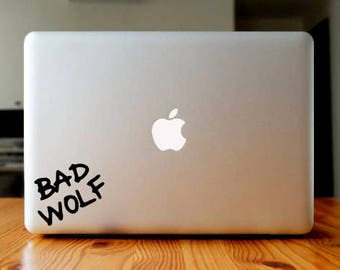 Bad Wolf Decal - Doctor Who Decal - Laptop Decal - Laptop Stickers - Laptop Sticker - Vinyl Decal Vinyl Sticker, Car Decal