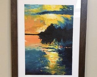 Original Oil- Morning Sunrise