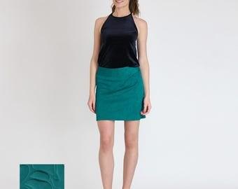 NEW!!! Spring 2017 short skirt / Mini Skirt / Retro Skirt / Vintage / Women's fashion / Blue / Petrolblue
