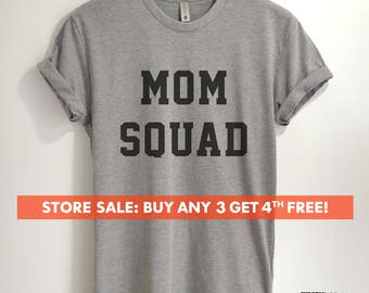 Mom Squad T-shirt, Ladies Unisex Crewneck Shirt, Mother's Day T-shirt, Gift for Mom, Unisex