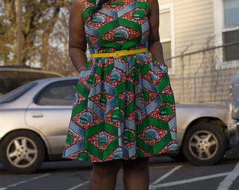 African Ankara Summer Dress
