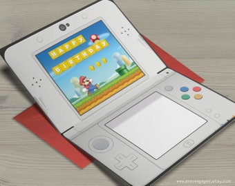 Super Mario Bros Happy Birthday Nintendo 3DS Gamer Nerdy Anime Video Game Greeting Card