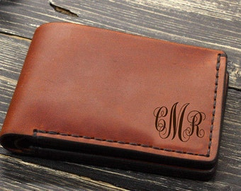 Mens Leather Wallet Personalized, Custom Gifts for Him, Mens Gift Ideas, Groomsmen Gifts, Valentines Gift for Boyfriend, Gifts for Dad