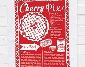 Tea Towel - Cherry Pie Recipe