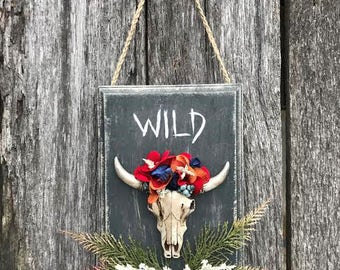 WILD - Cow Skull Wall Hanging