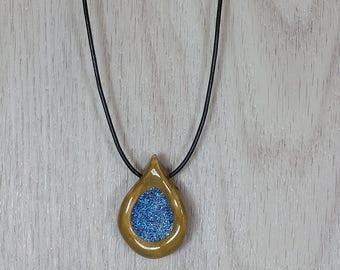 Handmade Ceramic Pottery Necklace / Pendant