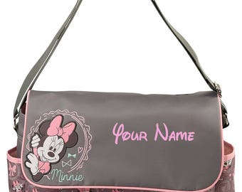 Personalized Disney Minnie Mouse Baby Duffel Diaper Bag with Flap- 17 Inches