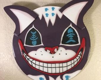 Custom Wood Art Cheshire Cat Alice in Wonderland