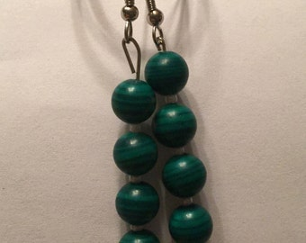Green Zebra Earrings