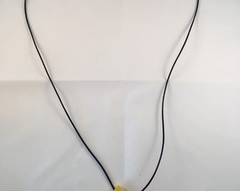 Yellow ceramic necklace