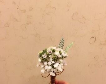 Baby's Breath Boutonniere / Flower / Wedding / Silk Flower / Groom / Groomsmen / Prom / Formal / Special Occasion Boutonniere