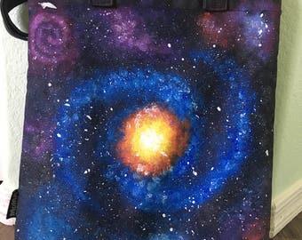 Blue/Purple Spiral Galaxy Tote
