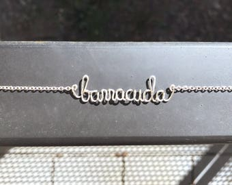 BARRACUDA Heart classic rock tribute lyric necklace