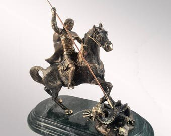 "Bronze Hanukia ""George the Victorious"" large"