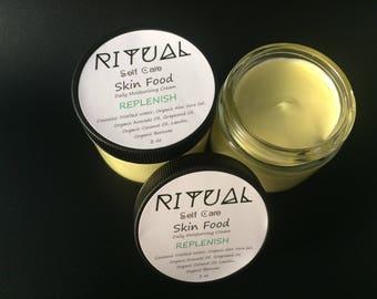 Skin Food REPLENISH Daily Moisturizing Cream Natural Skin Care Organic Skin Care Moisturizer Facial Care