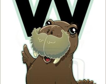 W is for Walrus : Animal Alphabet
