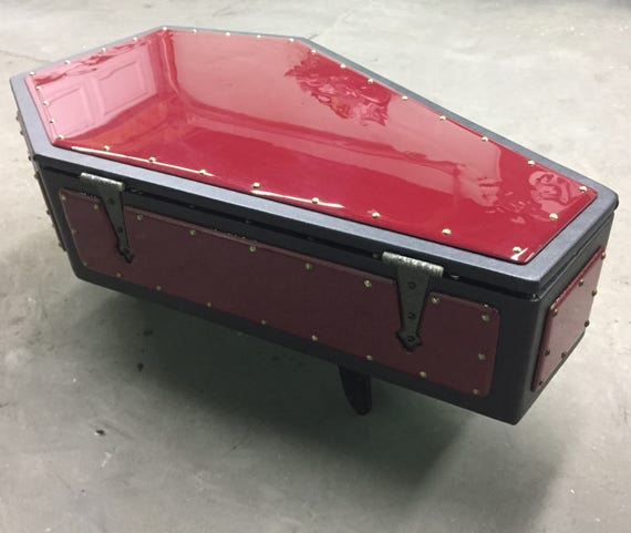 Custom made coffin coffee table