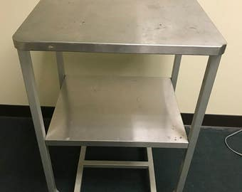 Stainless MidCentury Rolling Table