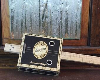 Brickhouse cigar box guitar