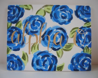 Sorority Floral Canvas