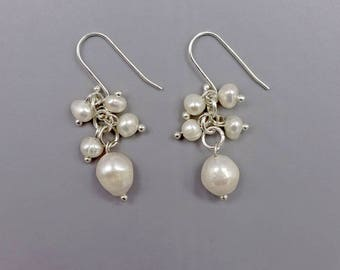 "1.5"" Pearl Drop Down Earrings"
