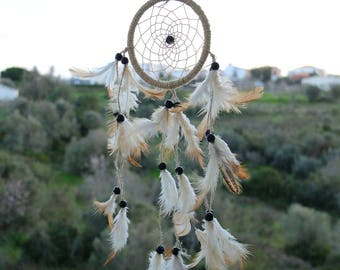 Natural dreamcatcher*Wall hanging*Room decor*Bohemian bedroom*Wall art*Handmade dreamcatcher* Boho dreamcatcher