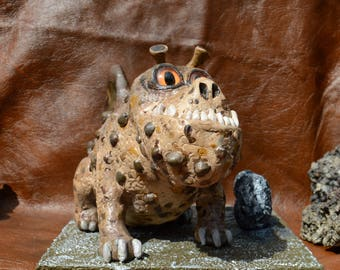 OOAK Meatlug the Gronckle (HtTYD) inspired sculpture with eggs