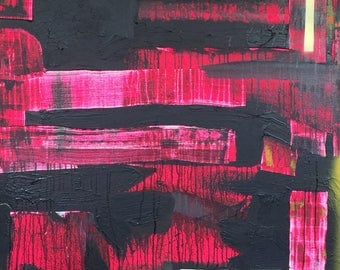 Pink Jedi - Abstract Painting, painting, abstract, contemporary, Star Wars, Street Art