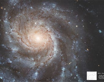 M101 Pinwheel Galaxy 36x24 inch Ultra HD Poster (FREE SHIPPING)