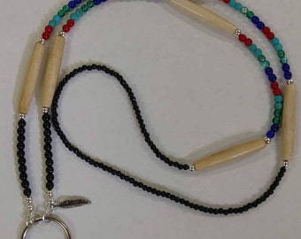 Native American Style Beaded Lanyard