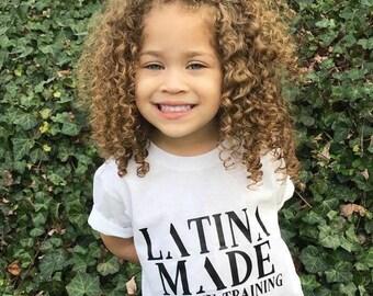 """Latina Made """"IN TRAINING"""" Girls Tee - Toddler / Youth"""