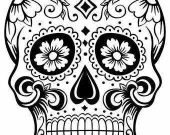 Sugar Skull Concrete Print