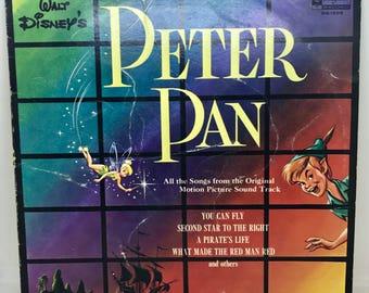 Vintage Vinyl LP, Walt Disney's Peter Pan Disneyland Record, DQ1206, 1963