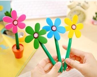 Novelty Plant Pot Flower Pen (4 Colours Available)