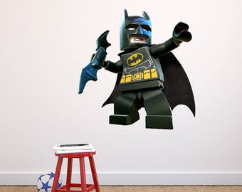 Batman Wall Decal Etsy - Lego wall decals vinyl