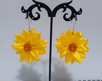 Kanzashi Flower Earrings