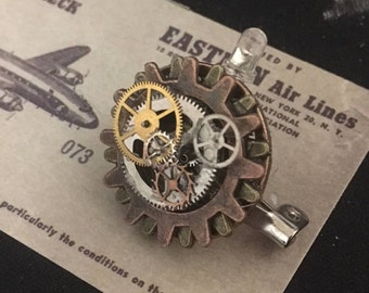 Steampunk Clockwork Small Gear Pin