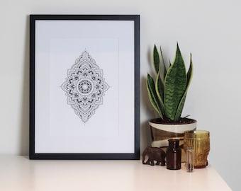 Mandala Print by Rachainsworth