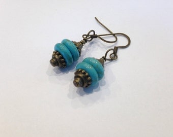 Turquoise stacked earings