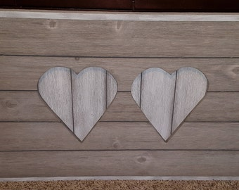 Reclaimed wood heart wall decoration
