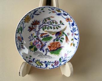 Davenport 1805-1820 porcelain little bowl antique handpainted china chinese oriental decor
