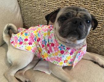 Floral Spring Dog Coat, Summer Dog Coat, Dog jacket, Dog Clothes, Dog accessories, summer jacket, doggy coat, pet coat, pet jacket