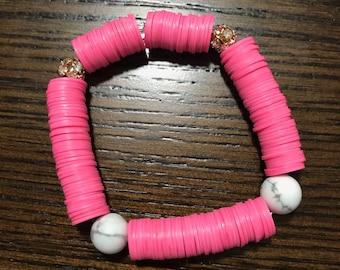 Gypsy Bracelet - Summer Bracelet - Beaded - Vinyl Bracelet